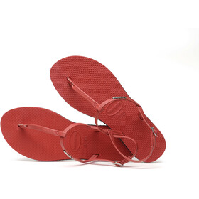 havaianas You Riviera Chaussures Femme, ruby red
